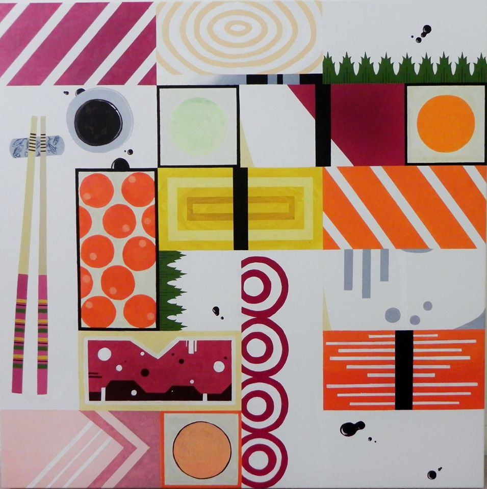 Sushi Acrylic Painting